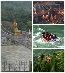 Holy Ganges with Mussoorie